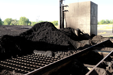 Pile of Sub-Bituminos Coal on the Grates of a Pulverizer