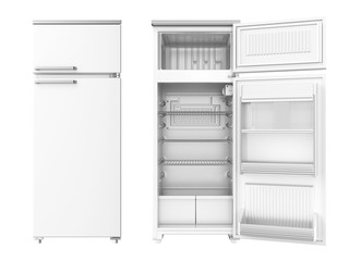 Refrigerator. 3D isolated