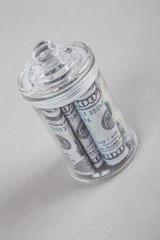 dollars in a jar