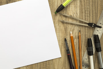 Drawing tools and sketch paper