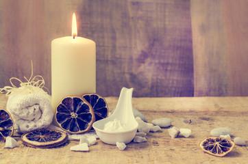 Zen stones aromatic candle table