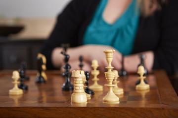 Schach, Nahaufnahme, König-Turm