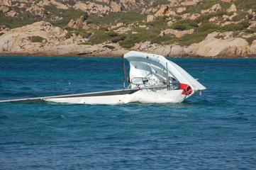 capovolgersi con la barca