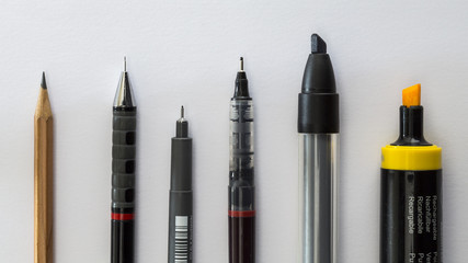 Pen and pencil selection