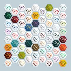 Flat design: casino chips