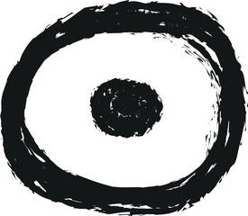 doodle charcoal symbol target