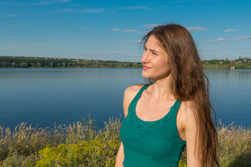The girl on the bank of the  River, 29.06.2014.