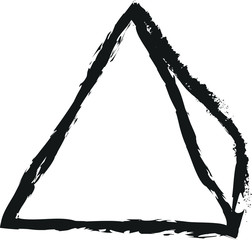 doodle charcoal pyramid