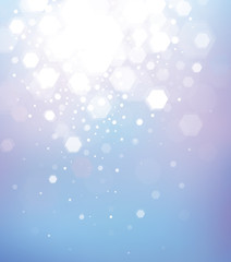 Vector abstract blue bokeh background.