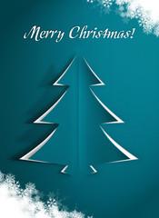 Niebieska kartka świąteczna