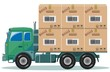 Truck With Cargo,Vector Illustration