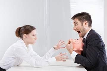 man trying to protect his savings