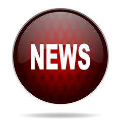 news red glossy web icon on white background.