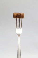 Fork with wine cork