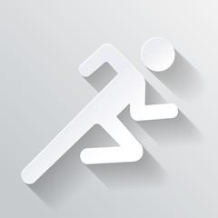 Paper Man Running Sign  illustration