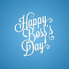boss day vintage lettering background