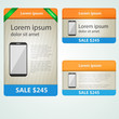 Colored vector banners selling phones