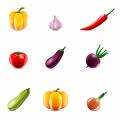 Vegetables Realistic Icons