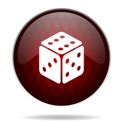 game red glossy web icon on white background.