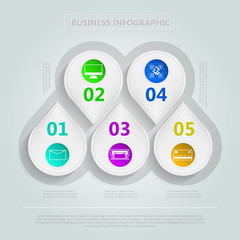 Vector infographic for e-Business
