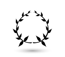Laurel icon vector