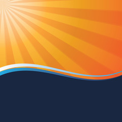 Vector Sunlight Fantasy Layout - Abstract Background