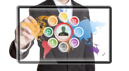 Businessman multimedia concept
