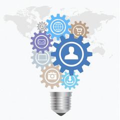 Lightbulb idea concept illustration