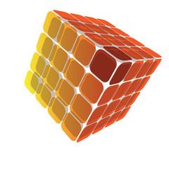 3D Cube Box Illustration