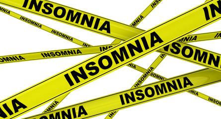 Бессоница (insomnia). Желтая оградительная лента