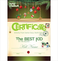 Kids certificate for Christmas