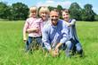 Happy family having fun at outdoors