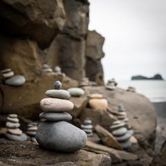 Pierres Cailloux Galets Zen Islande