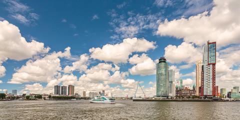 Cityscape of the Dutch city Rotterdam