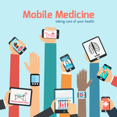 Mobile health concept