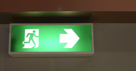 fire exit sign , Emergency exit symbol