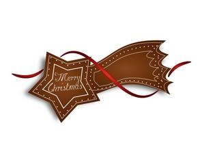 Gingerbread comet Merry Christmas