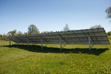 Back of a solar panel set