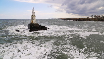 Lighthouse and seaway