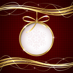 Abstract Christmas ball