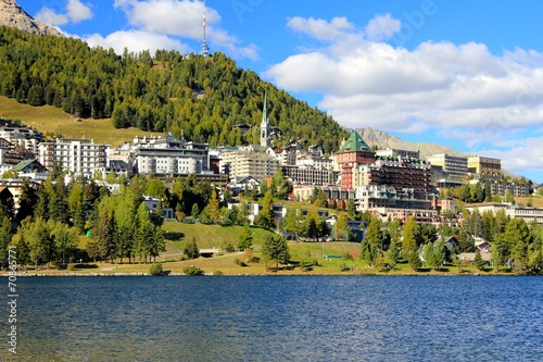Foto op Canvas Alpen St.Moritz