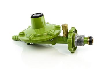 Gas valve regulator isolated on white background