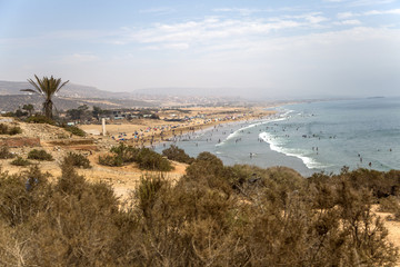 Beach in Agadir, Morocco