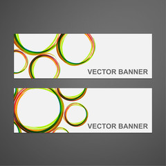 Vector abstract colorful banner set.
