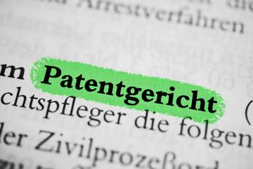 Patentgericht - grün markiert