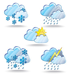 The set of Weather icon