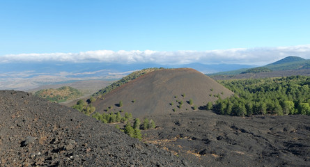 Volcanic Cone In Etna National Park, Sicily