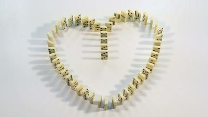 Heart of dominoes