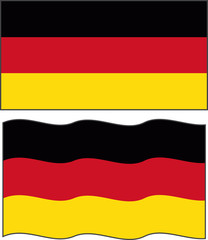 Flat and waving Germany Flag. Vector