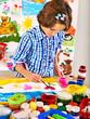 Child painting.